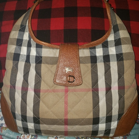 Burberry Handbags - Burberry House Check Quilted Manor Hobo Bag